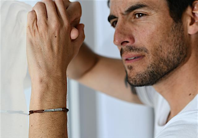 bracelet homme cuir personnalisé gemografic