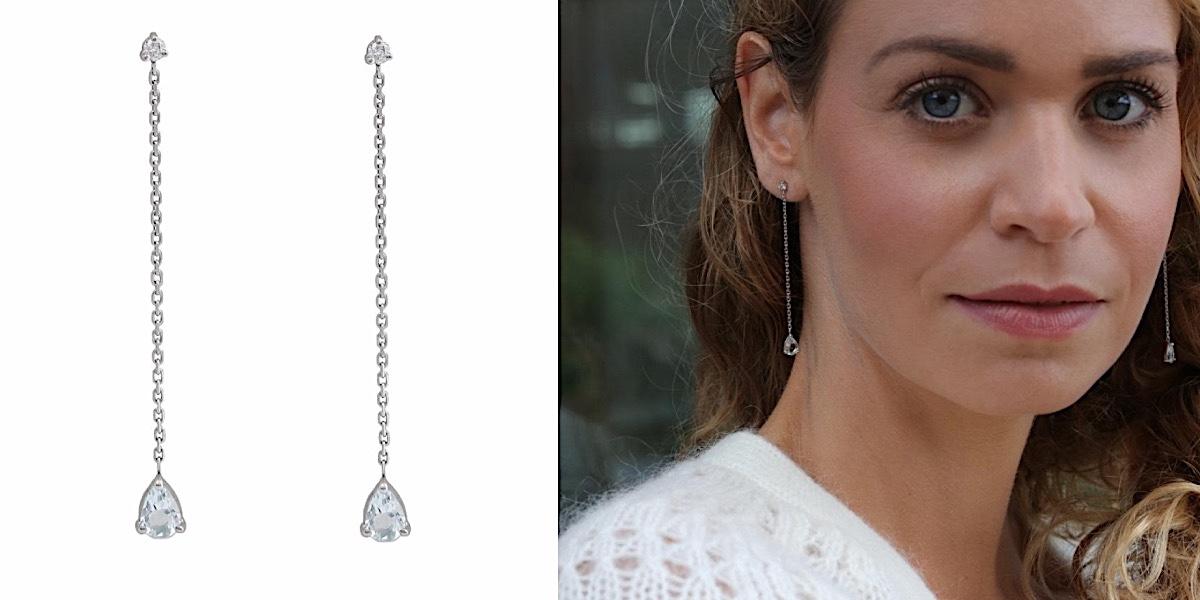 Boucles d'oreilles Aigue Marine Diamants Or Blanc 18 carats