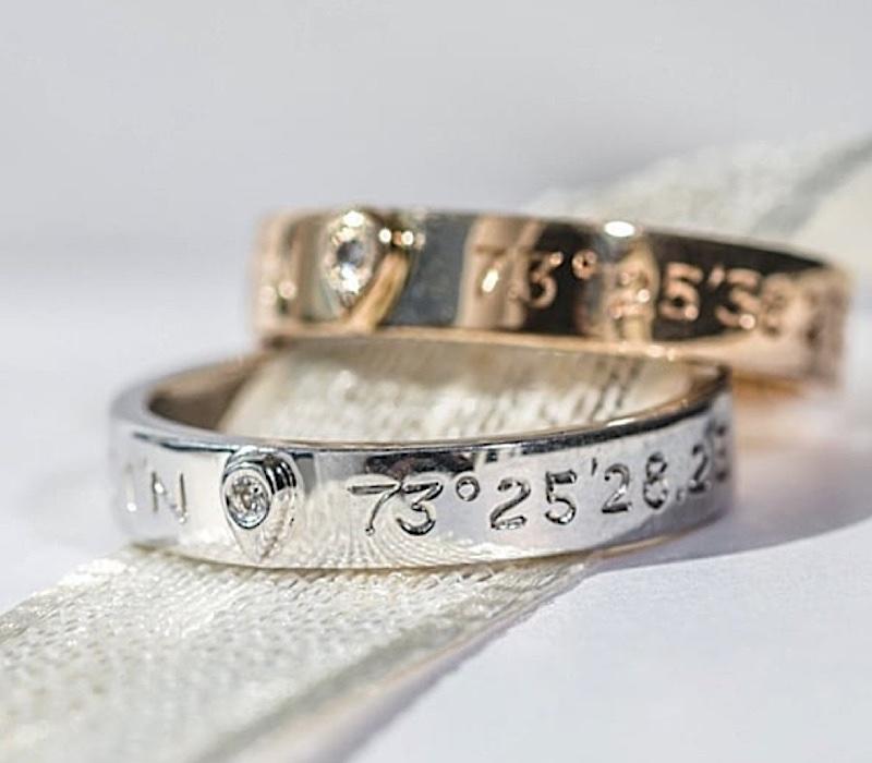 bijoux coordonnées gps anniversaire de mariage