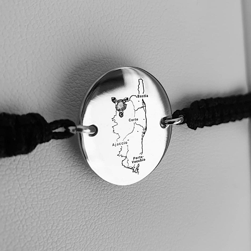 bracelet gravé Corse homme