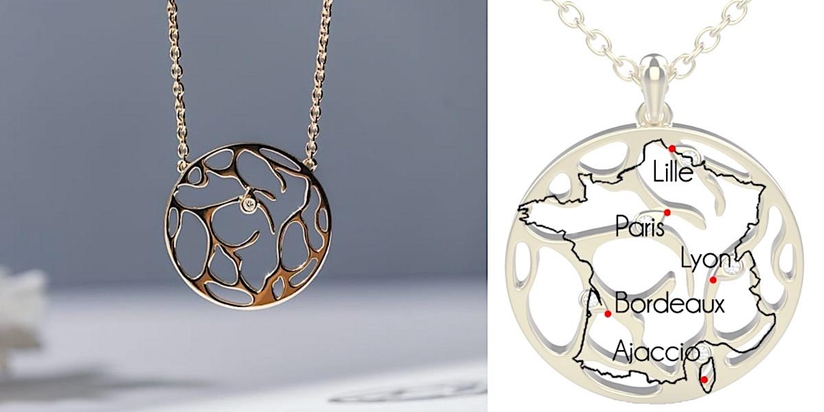 Bijoux personnalisés originaux gemografic