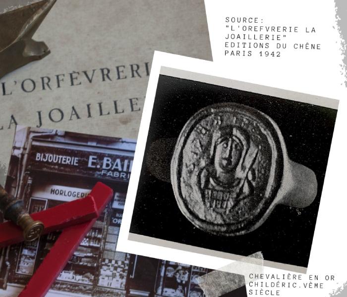 chevalière en or Childéric histoire de la gravure