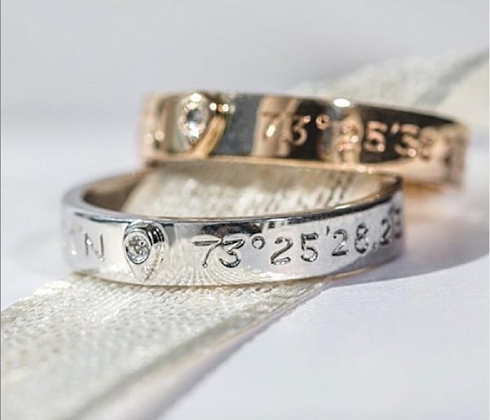 bijoux gravés bague gemografic