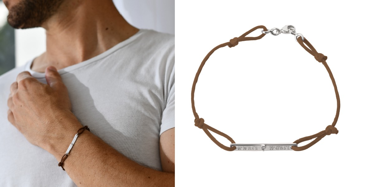bracelet cuir pour homme gemografic