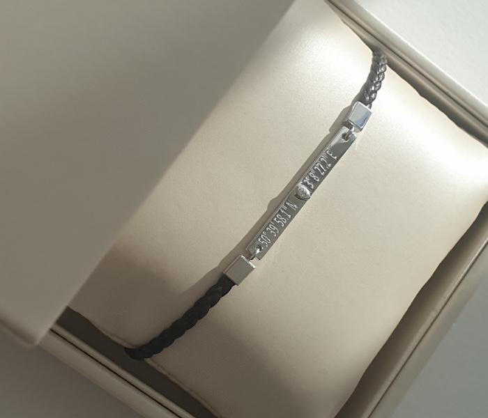 bracelet cuir grave homme