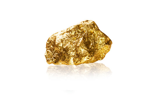 Pépite d'or jaune