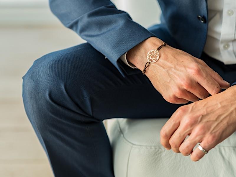 bracelet personnalisé homme cuir