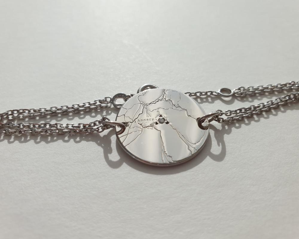 bracelet personnalisé gravé anniversaire de mariage