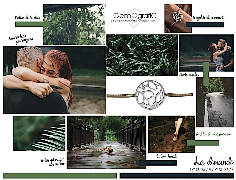 bracelet pour couple gemografic