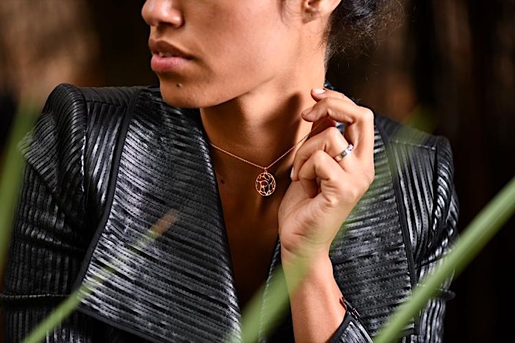 collier personnalisé pour femme or gemografic