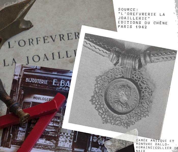 camée antique collier de Naix histoire de la gravure