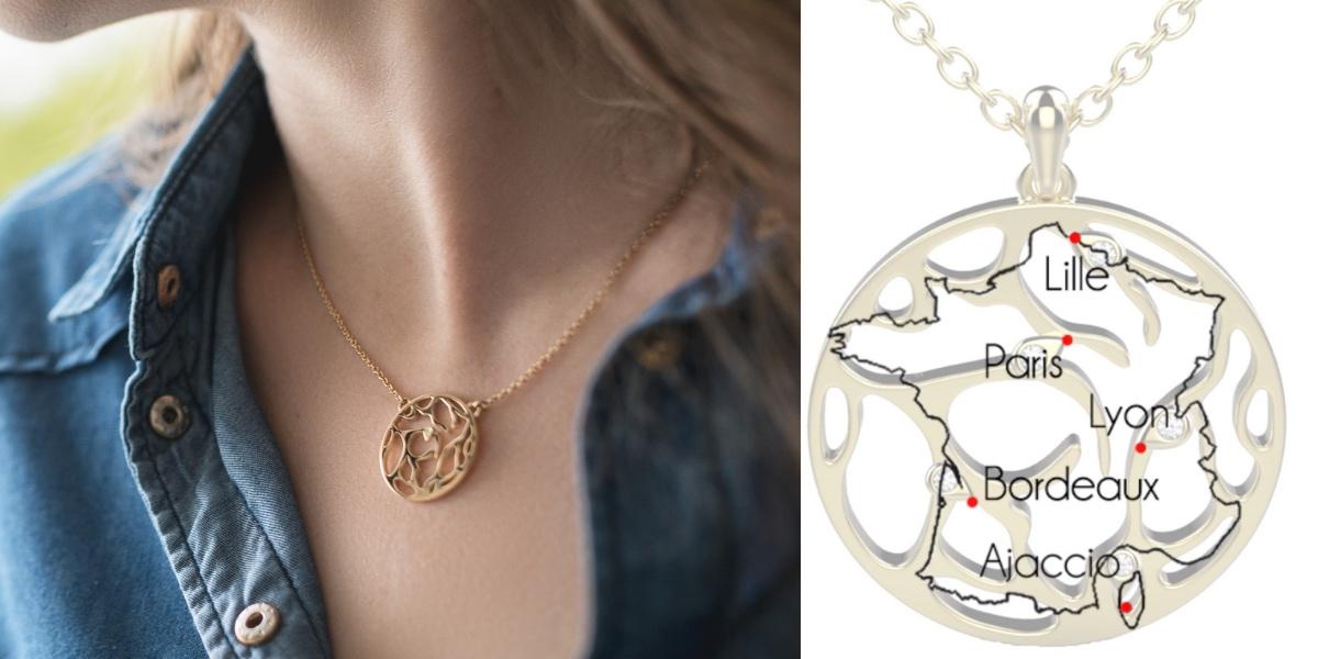 collier personnalisé pour femme comme cadeau de noel