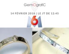 Bijoux personnalisés Gemografic dans le JT de M6