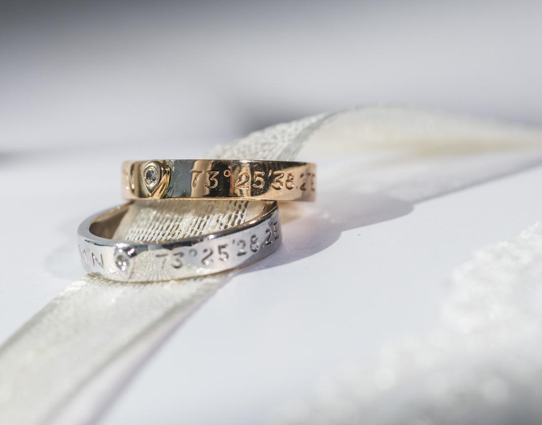 alliances de mariage personnalisés
