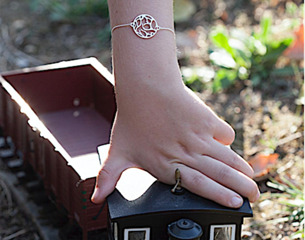bracelet bapteme or blanc gemografic
