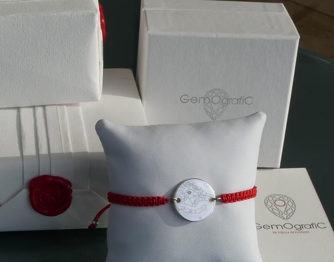 Bracelet Tressé Cordon Rouge