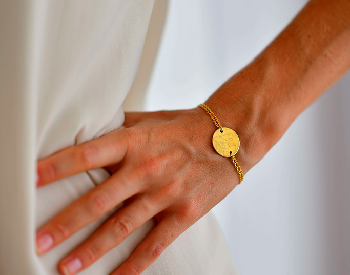 Bracelet Chaine Or jaune Wander